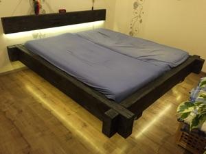 Balkenbett eigenbau for Bett eigenbau